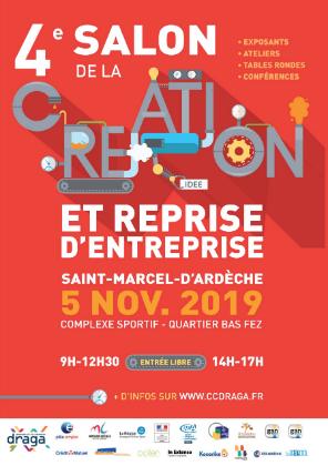 4 ème salon de la création et reprise d'entreprise Saint Marcel d'Ardèche